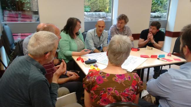 The Climate Action Ilkley meeting at the Clarke Foley Centre on June 18, 2019