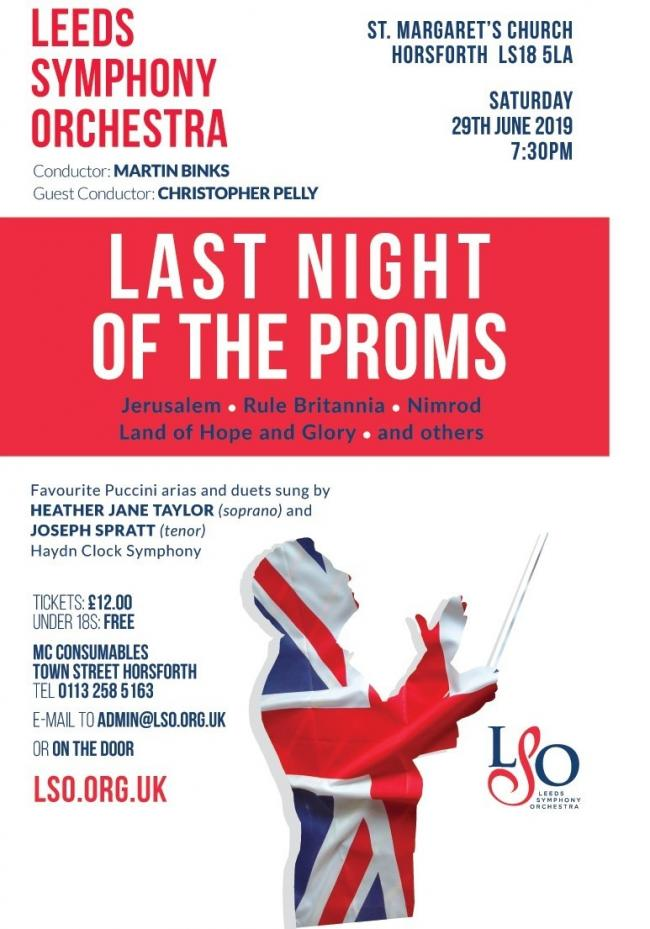 The poster for Leeds Symphony Orchestra's Horsforth concert