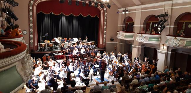 Airedale Symphony Orchestra and conductor John Anderson at the King's Hall, Ilkley