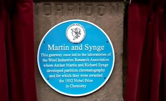 The plaque to Martin and Synge