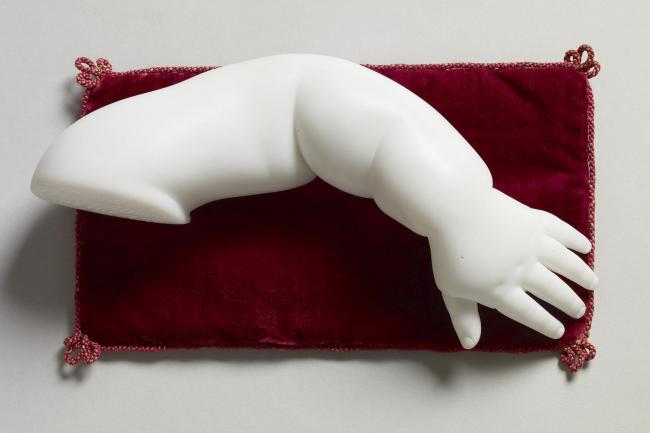 A marble cast of Prince Alfred Edward's arm
