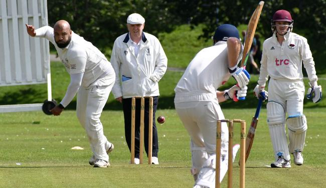 Captain Usman Munir led Saltaire to victory in the Awards Galore Cup on Sunday. Picture: Richard Leach