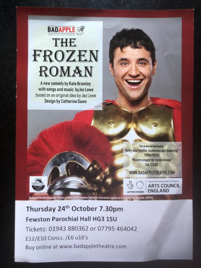 The publicity poster for The Frozen Roman