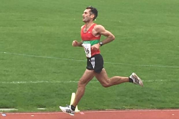 Ilkley Harriers runner Istvan Jacso in action at the Northern Road Relays