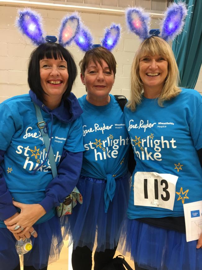 Ready for a Starlight Hike - nurses from Wheatfields Hospice