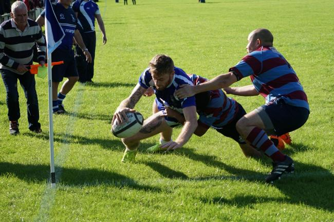 Connor Bateman scored a try for Old Otliensians