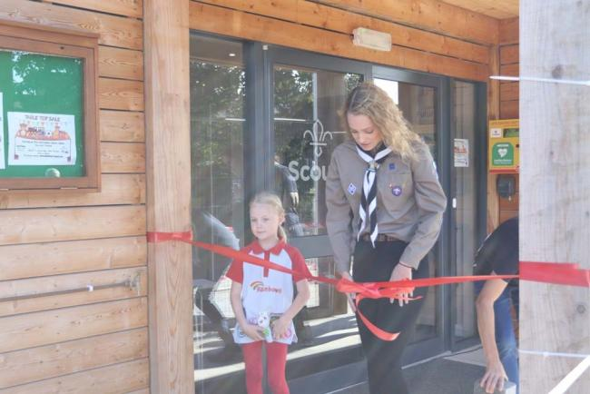 The official opening of the new scout and guide HQ