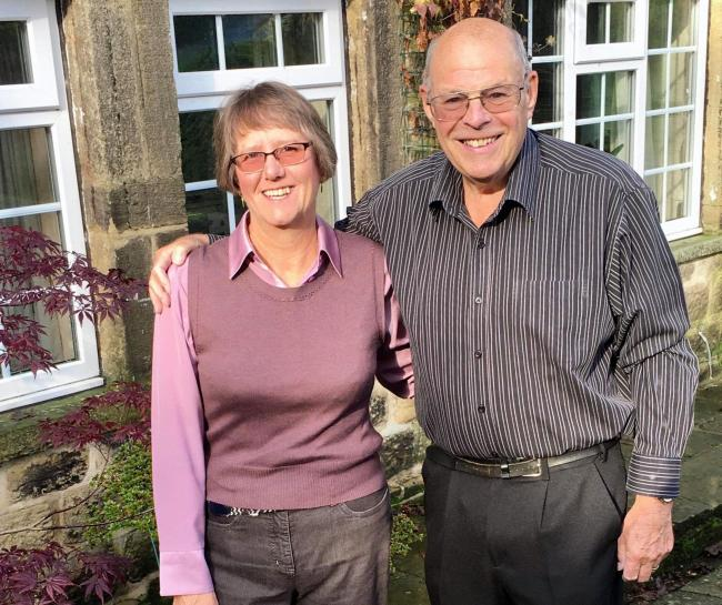 Jan and Ian Thompson pictured after undertaking the low-carb diet as part of the type 2 diabetes pilot scheme