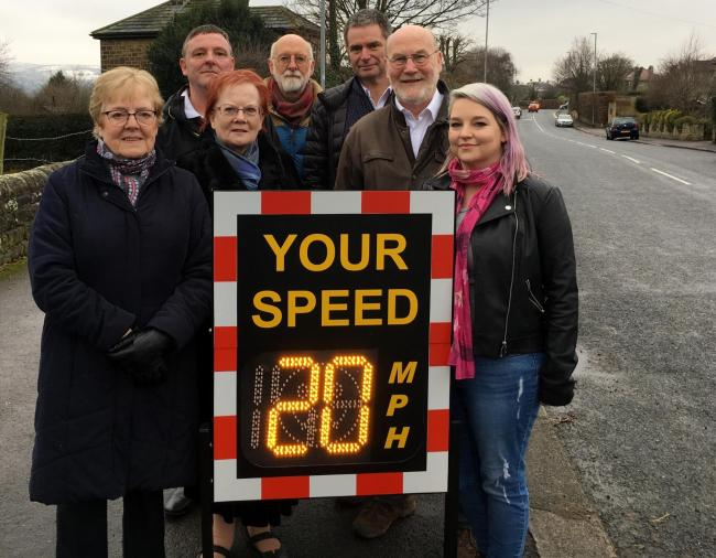Looking ahead to Otley's final 20mph zone - councillors on Weston Lane