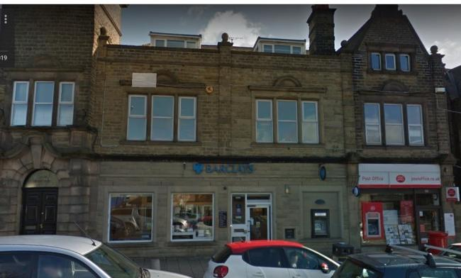 The Guiseley branch of Barclays Bank and the town's Post Office. Google Maps