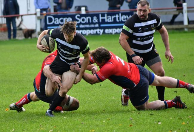 Henry Roberts scored a brace in his side's 47-19 defeat. Picture: Richard Leach