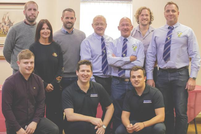 Left to right: Backrow; Jack Dixon Potting Shed, Lucy Finn Potting Shed, CEO we change it, Chris Clarke Fire Investigations UK, Graeme Foster Aireborough RUFC, Andy Hancock Spencer Woods Accountants, Simon Wilson Brands Creative, Front Row Ian Twitchett P