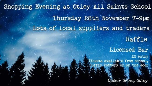 The publicity poster for the Shopping Evening