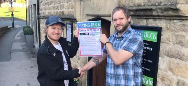 Luke Raven, of Ilkley Brewery (left) and Nick McNeice, of Wharfedale Brewery