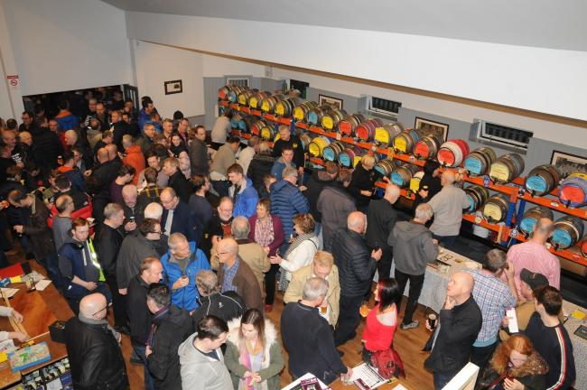 Crowds enjoying the 2018 Otley Beer Festival. Photograph by Andrew Beeson