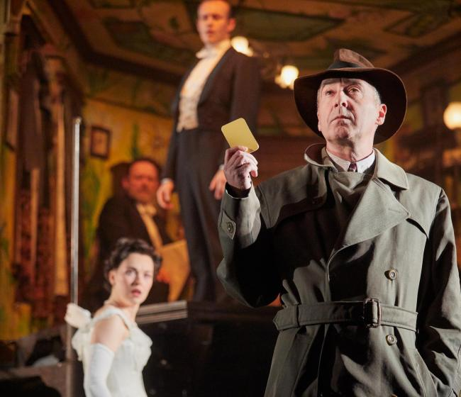 Liam Brennan, Lianne Harvey and  Andrew Macklin in An Inspector. Photo by Mark Douet
