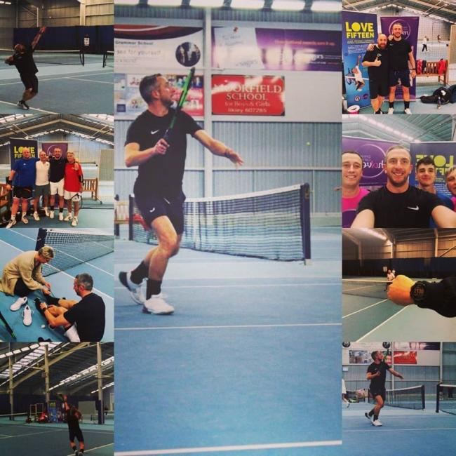 A collection of images from Jason Horsman's tennis 'marathon' at Ilkley