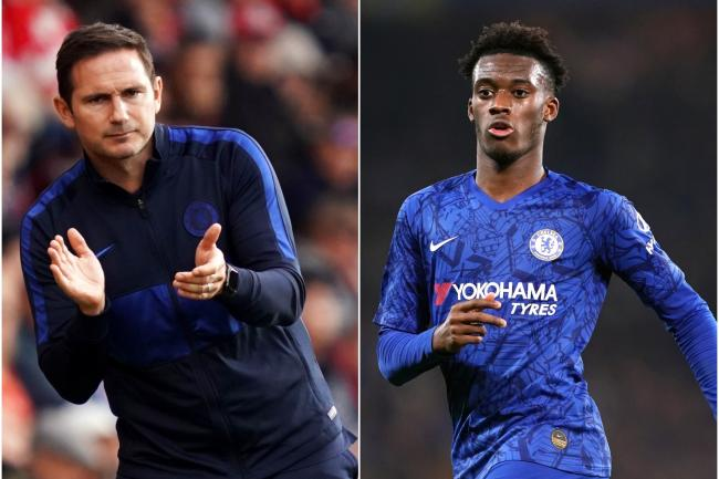 Frank Lampard, left, and Callum Hudson-Odoi