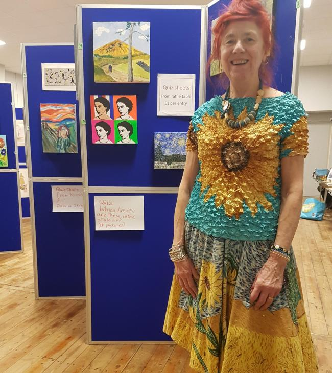 Susan Ross at the Wharfedale Artists Exhibition held in Addingham