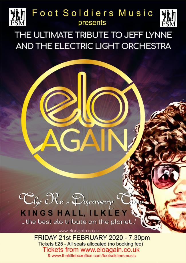 ELO Again are coming to the King's Hall, Ilkley