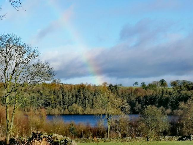 A rainbow over Fewston reservoir by Ian Naylor