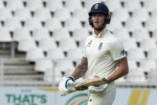Ben Stokes leaves the field after being dismissed at the Wanderers