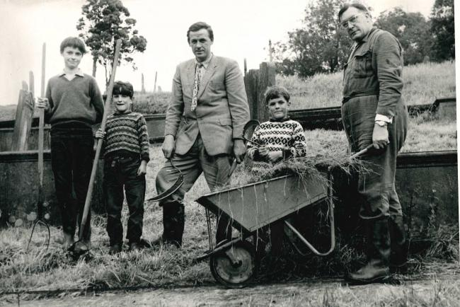 A BAND of helpers had got together to cut the grass at Fewston Church when this picture was taken in 1965.