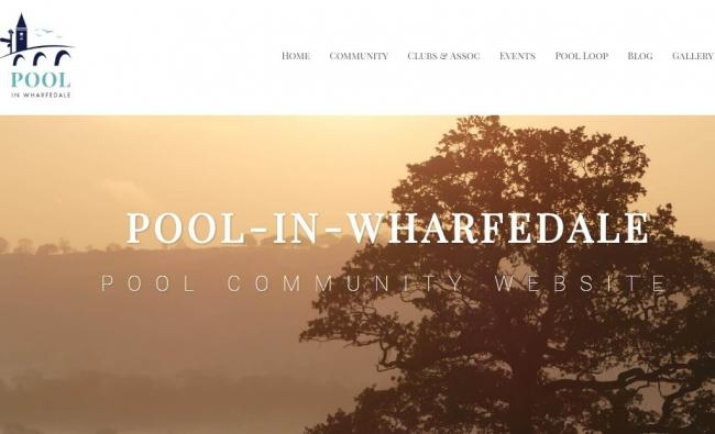 The home page of the new Pool-in-Wharfedale community website