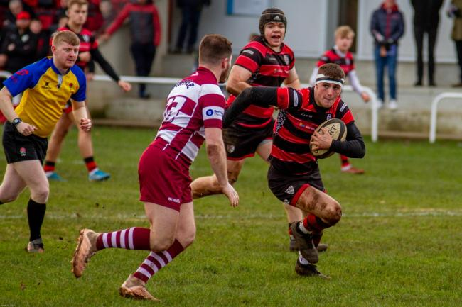 Action from a recent Ilkley match at Stacks Field. Picture: ruggerpix.com