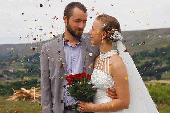 "Luke Walley with his wife Emilija on their wedding day in 2018: ""A caring young man who was passionate about contributing to global sustainability."""