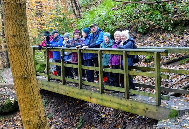 The ramblers group for older walkers on recent outing