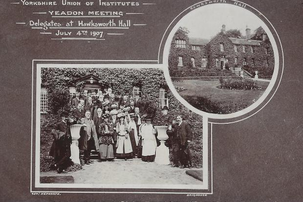A meeting at Hawksworth Hall in 1907