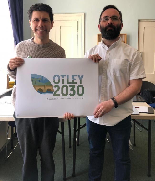 Andy Boyle of Otley 2030 (right) with Leeds North West MP Alex Sobel