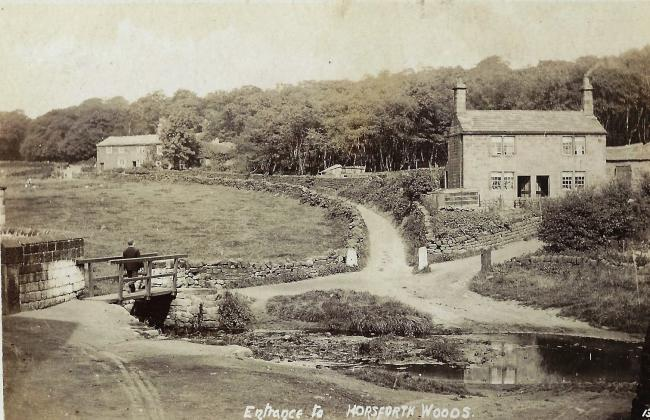 "THIS undated picture is entitled ""Entrance to Horsforth Woods.""