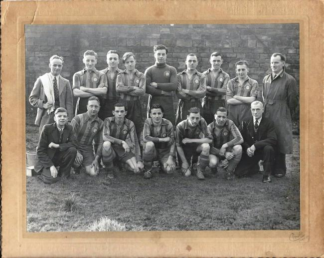 Members of Aireborough White Rose AFC posed for this team photograph in 1948.