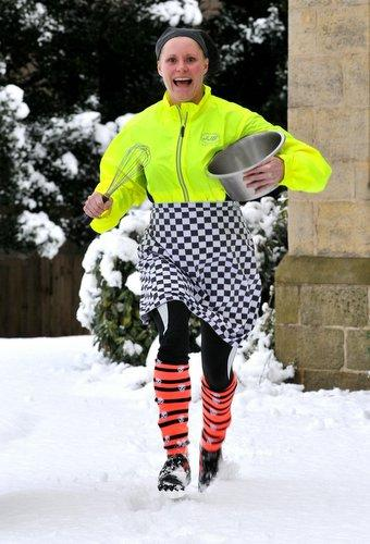 Louise Pickles ran to work to make sure the residents of Ilkley's Abbeyfield home would have a hot meal.