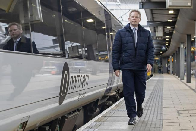 Transport minister Grant Shapps at Leeds station earlier this year