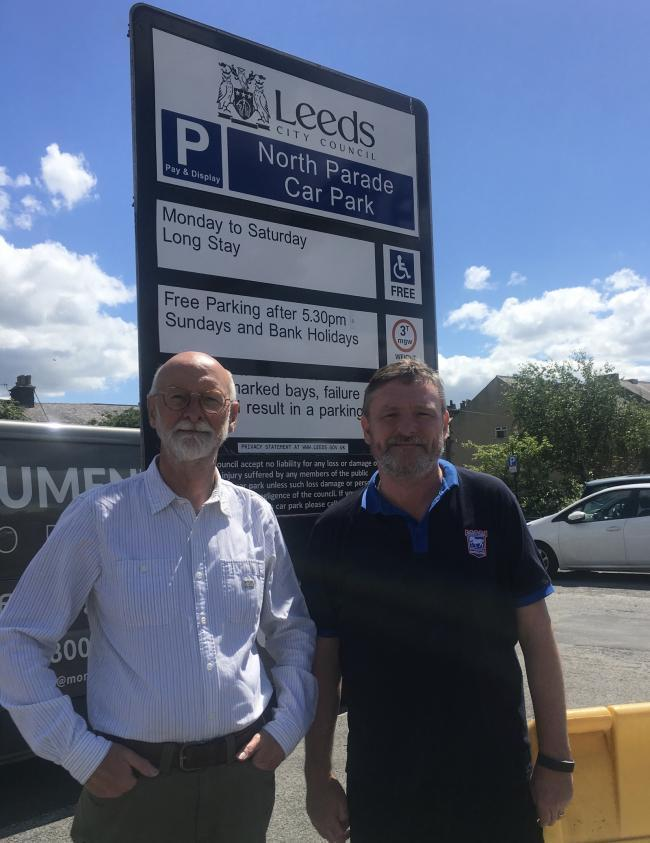 Hailing a further suspension of council parking charges in Otley - Councillors Colin Campbell and Sandy Lay