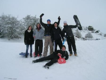 Reader Sue Boerrigter image of people enjoying the snow on Ben Rhydding Golf Course.