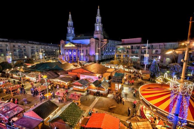 The Christkindelmarkt (German Christmas Market) in Leeds