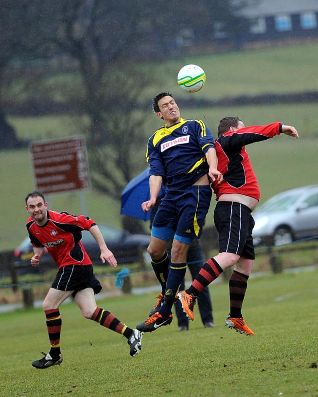 Ilkley's Darren Munday opened up the scoring. Picture: Anthony McMillan