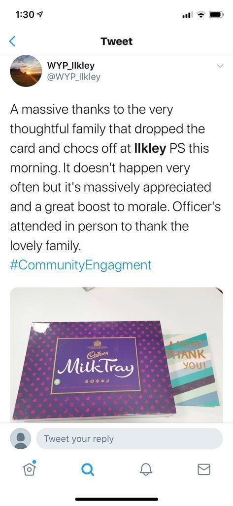 The Twitter message posted by Ilkley police