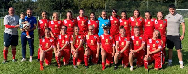 Ilkley Town Ladies AFC in their new kit