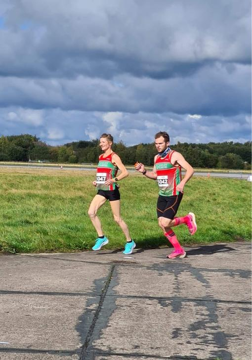Ilkley Harriers Sally Armitage and Mike Abrams-Cohen both dipped under their target times over 5km in York.