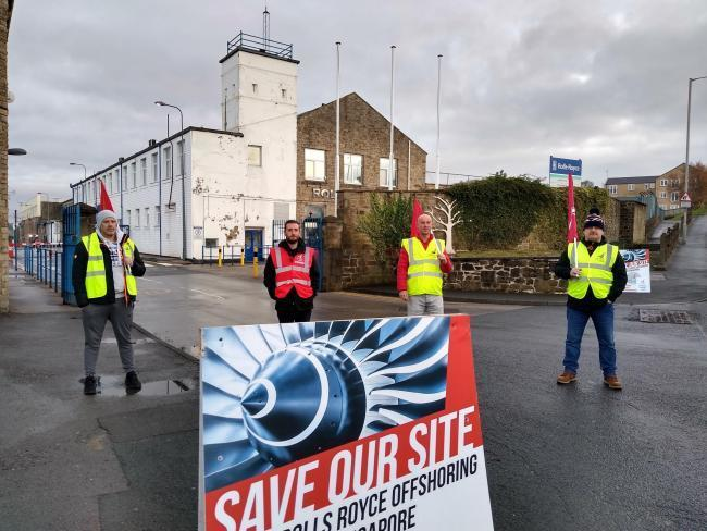Striking workers outside the Bankfield site last year