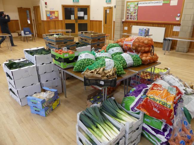 Fruit and vegetables were delivered to people in Otley. Picture by Steve Howarth