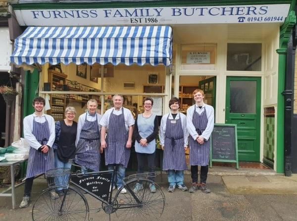 The team at Furniss Family Butchers in Ben Rhydding which is celebrating its 35th anniversary this week