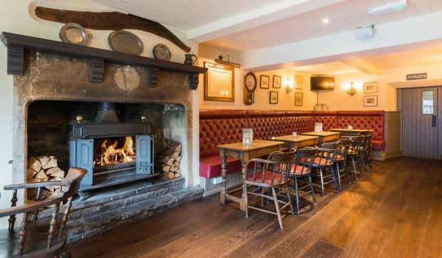Ilkley Gazette: The Fleece has an amazing fire if the weather is cold