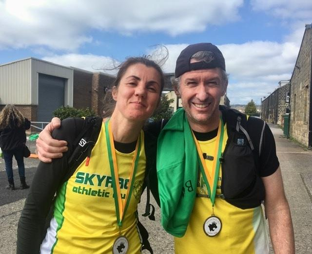 Local Skyrac Athletics Club athletes Rebecca and Nuno César de Sá finished together in seventh place overall