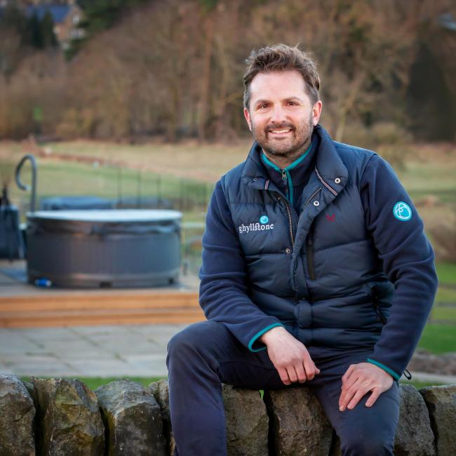 Ilkley's Paul Wintersgill owns Ghyllstone who have just launched thier new 'at home' sensory spa tub